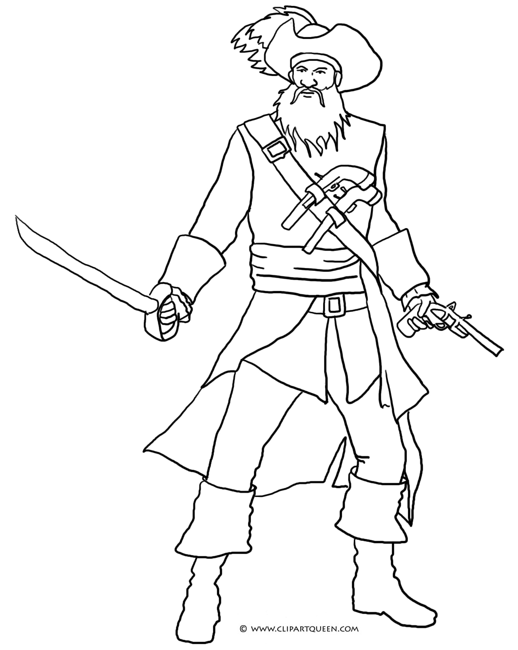 pirate coloring pages images | Pirate Coloring Pages