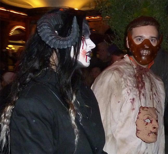Halloween parade participants