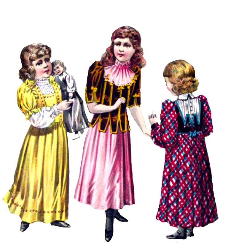 free Victorian graphics girls fashion
