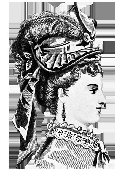 woman hat fashion 1871
