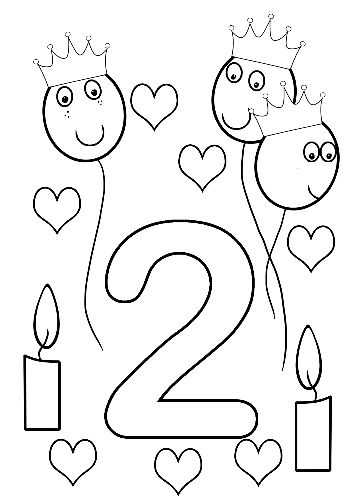 2nd birthday coloring sheet girlish