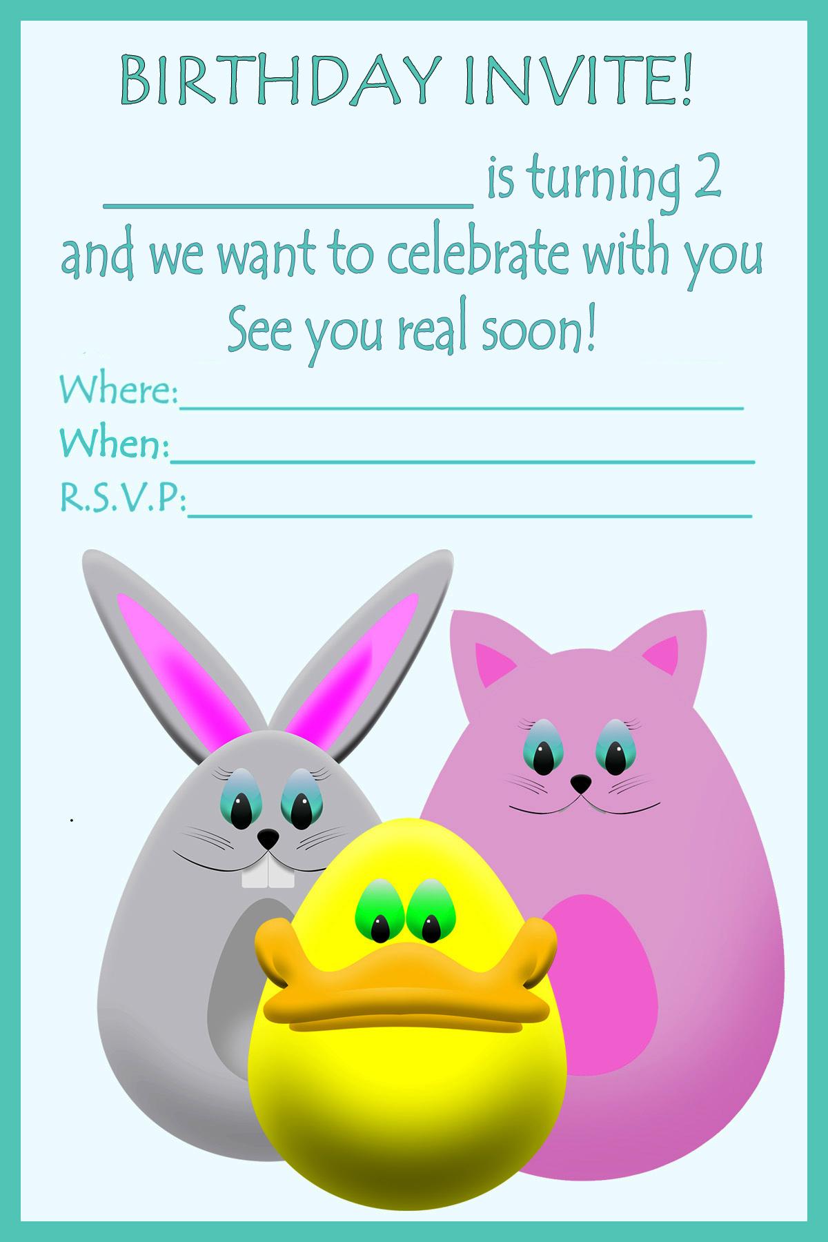 2nd birthday invite