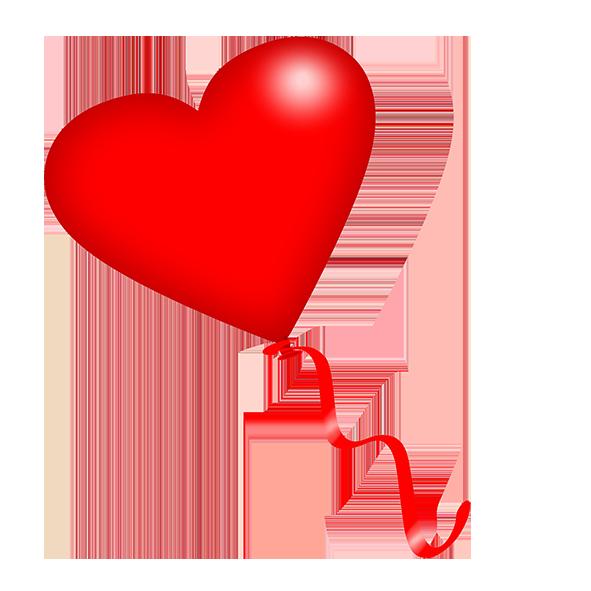 heart balloon with ribbon