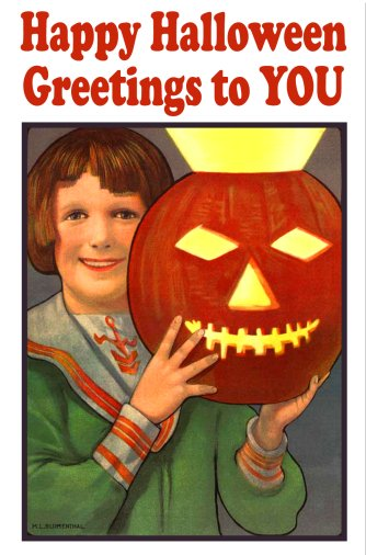 boy with Jack O'lantern card