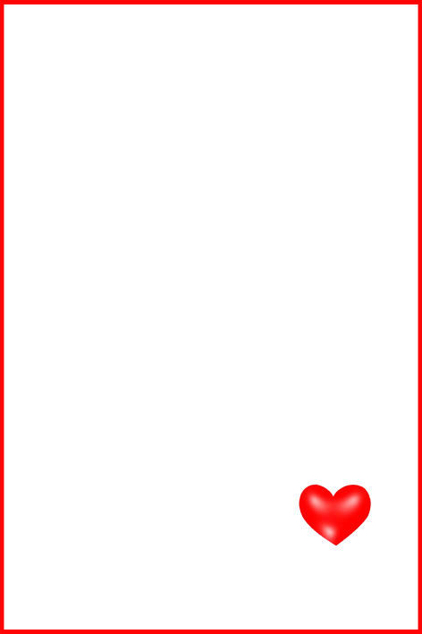 printable valentine cards red love heart