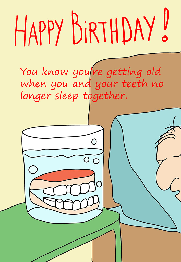 Middle Aged Mans Birthday Card