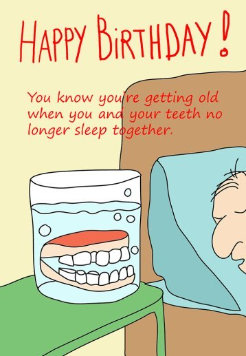 Middle aged man's birthday card