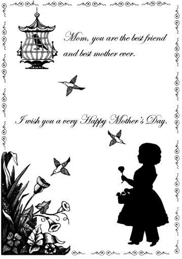 Victorian card with verse for Mother's day