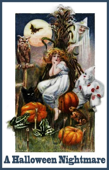 Halloween nightmare postcard