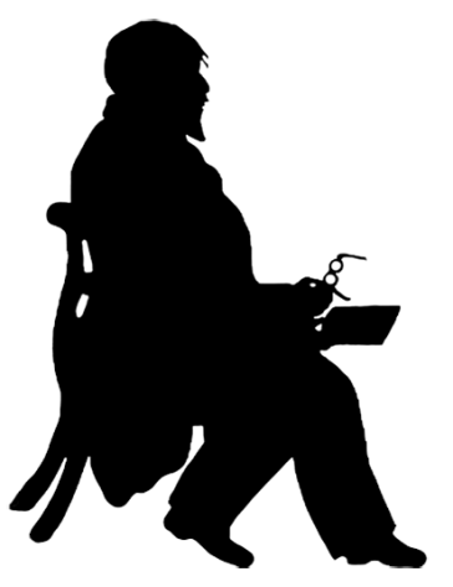 Victorian teacher silhouette
