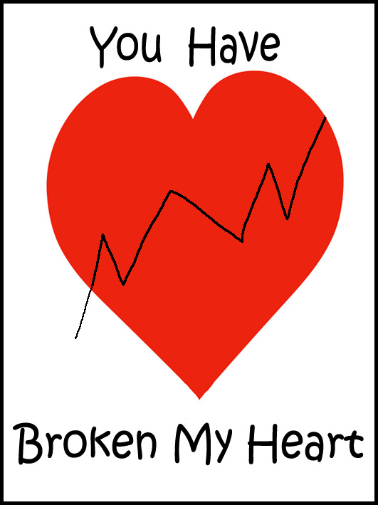 you have broken my heart valentine greeting cards