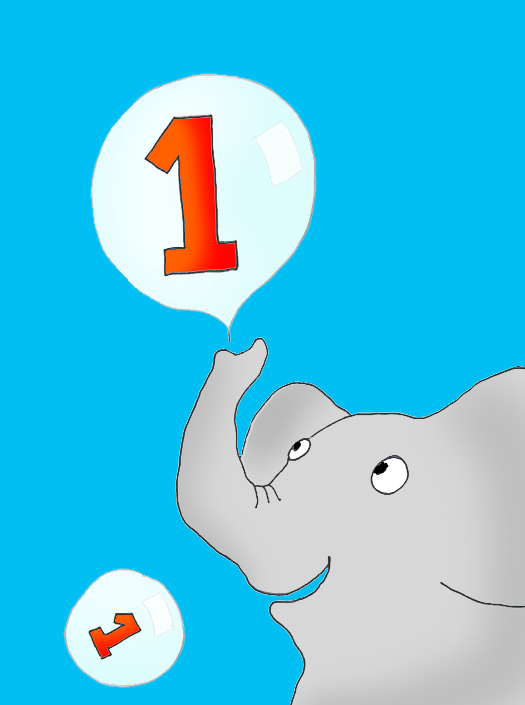 elephant making birthday bubbles