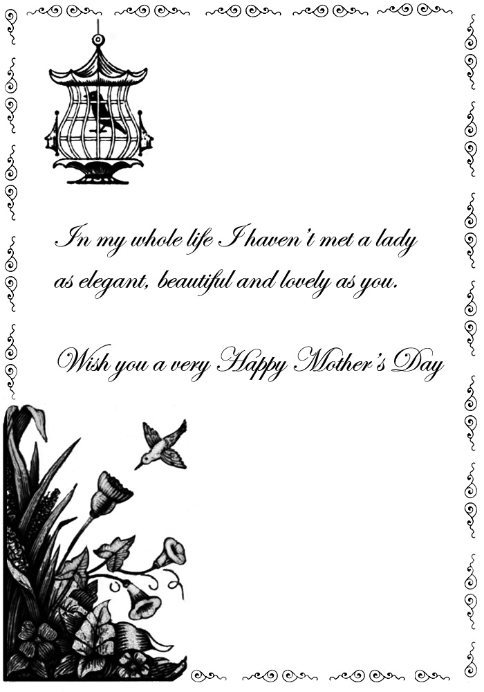 victorian card for Mother's day