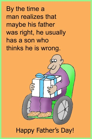 father's day greeting card old man in wheel chair