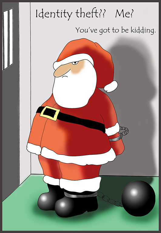 Funny Christmas card Santa in Prison