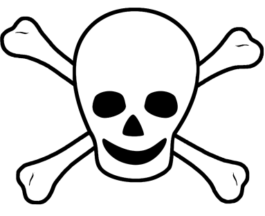 cross-bone with skull for pirate decorations