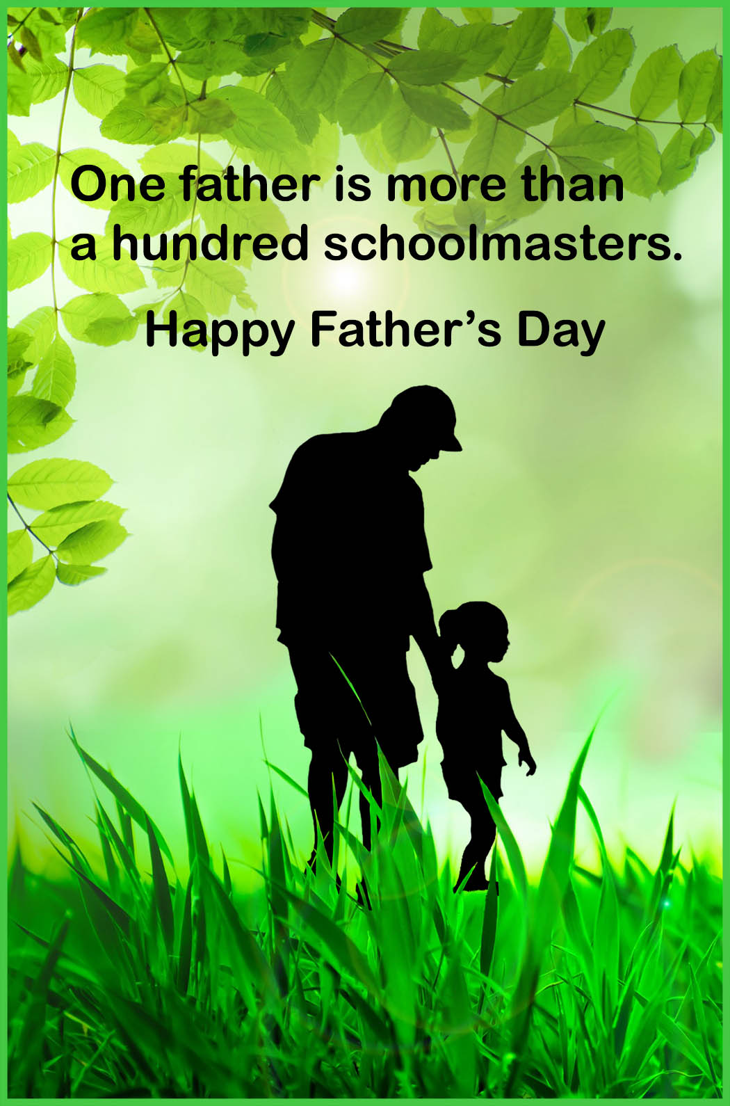 father's day greeting card father and daughter