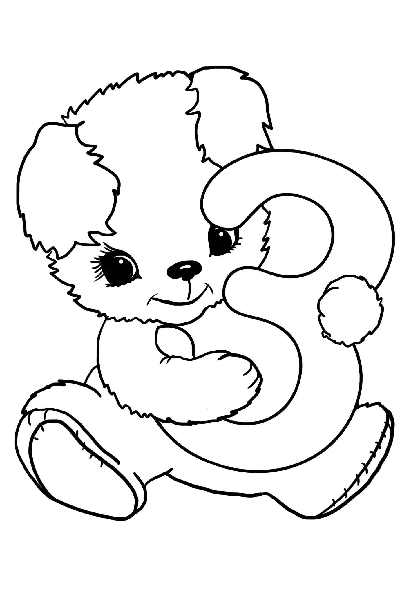 3rd birthday coloring page
