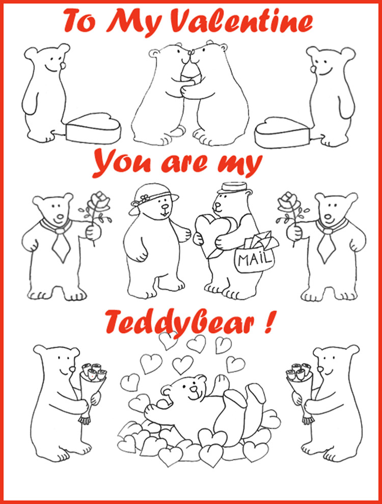 kids Valentine card free clipart