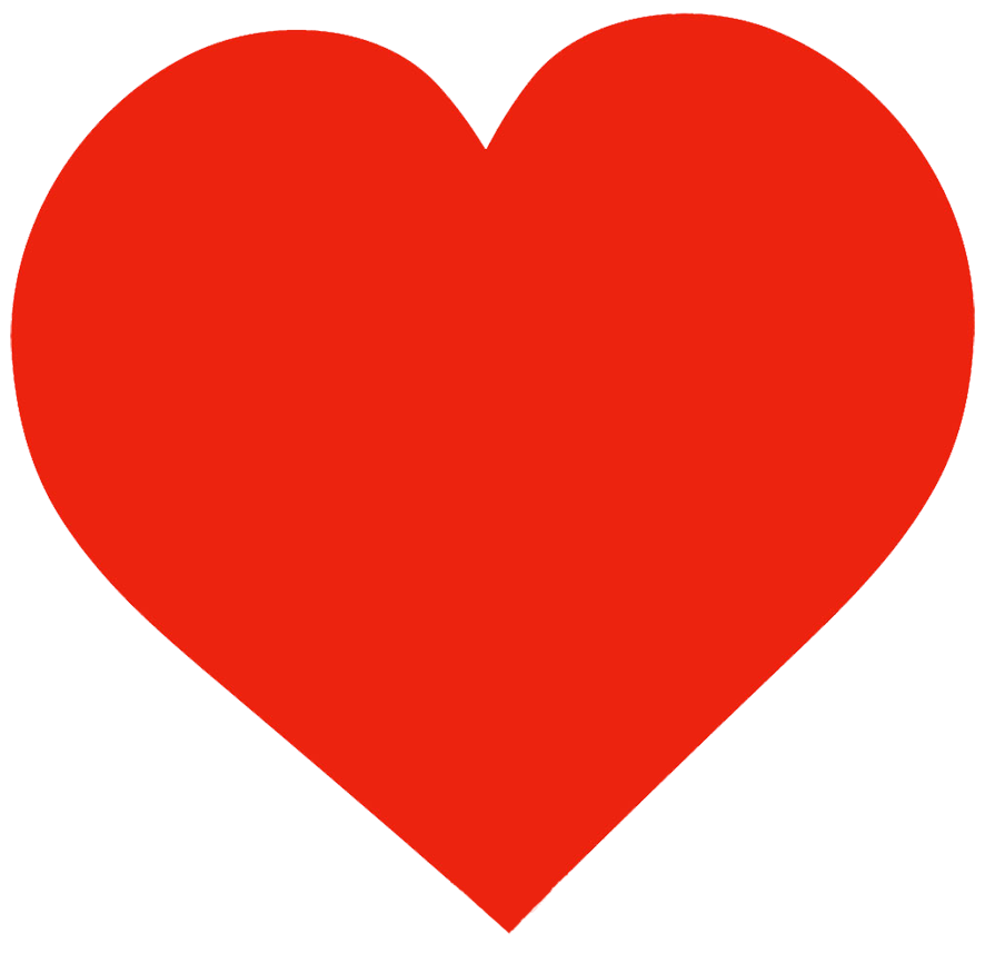 big red heart template for Valentine's Day