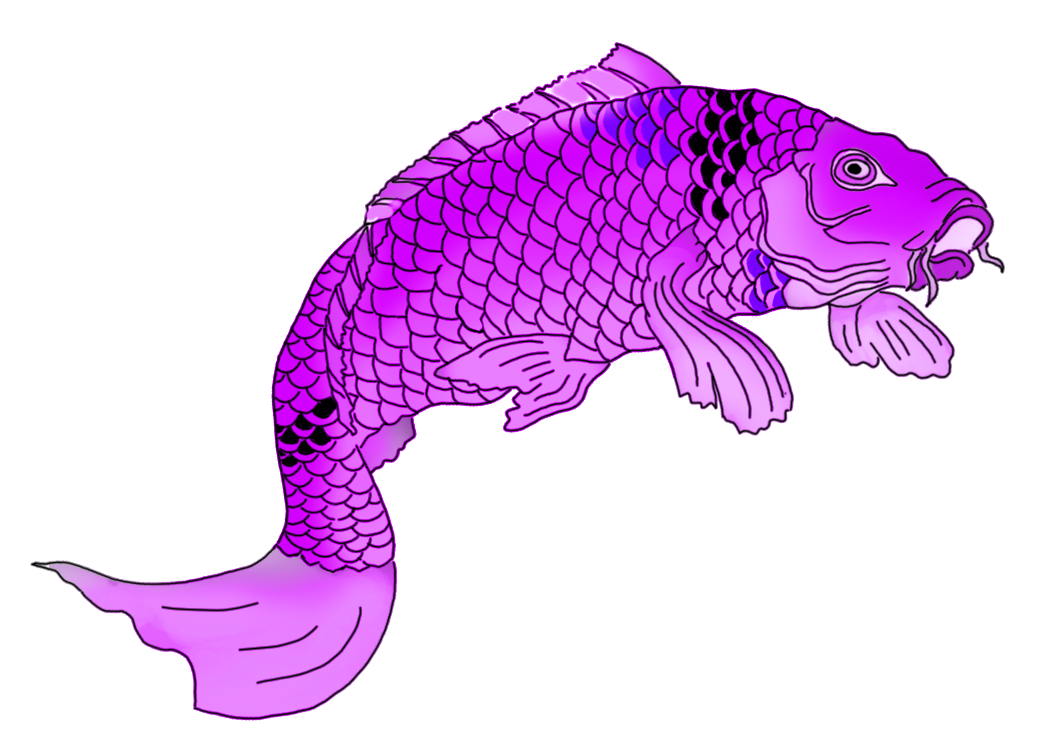 purple koi fish clipart