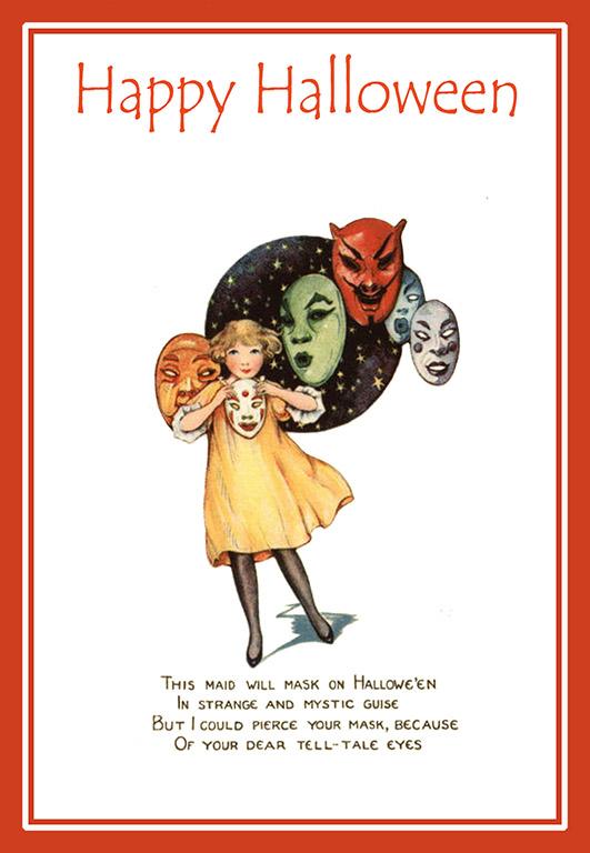 art nouveau Halloween card
