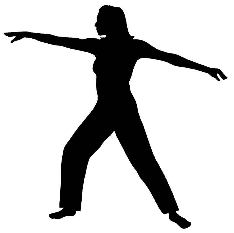 fitness silhouette of woman
