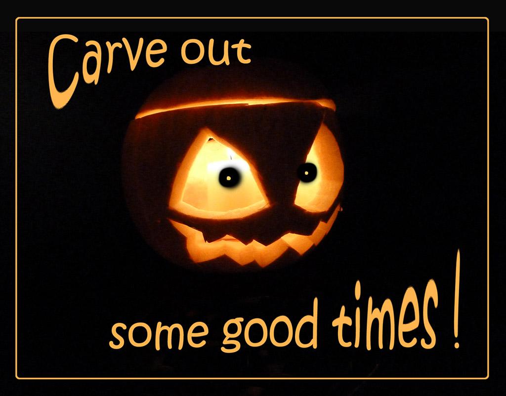 jack o lantern halloween greeting card