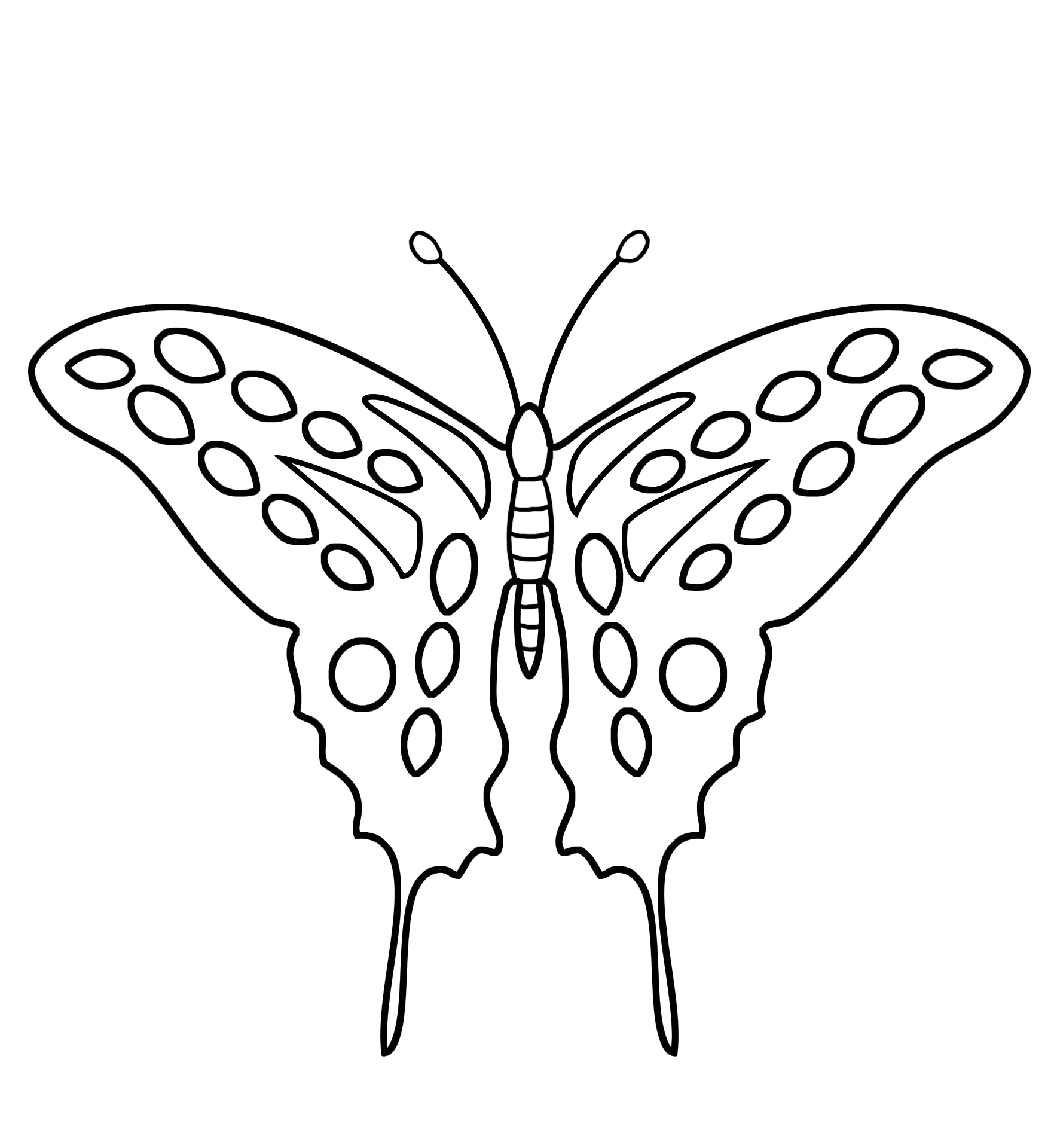 coloring page for kids with butterfly