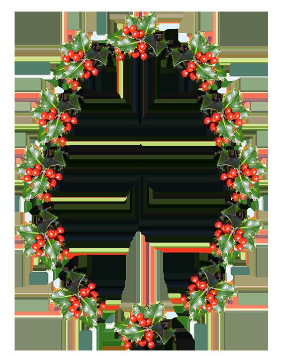 christmas frame oval