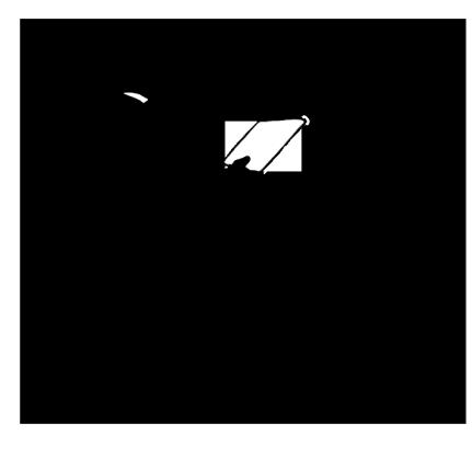 silhouette man in chair