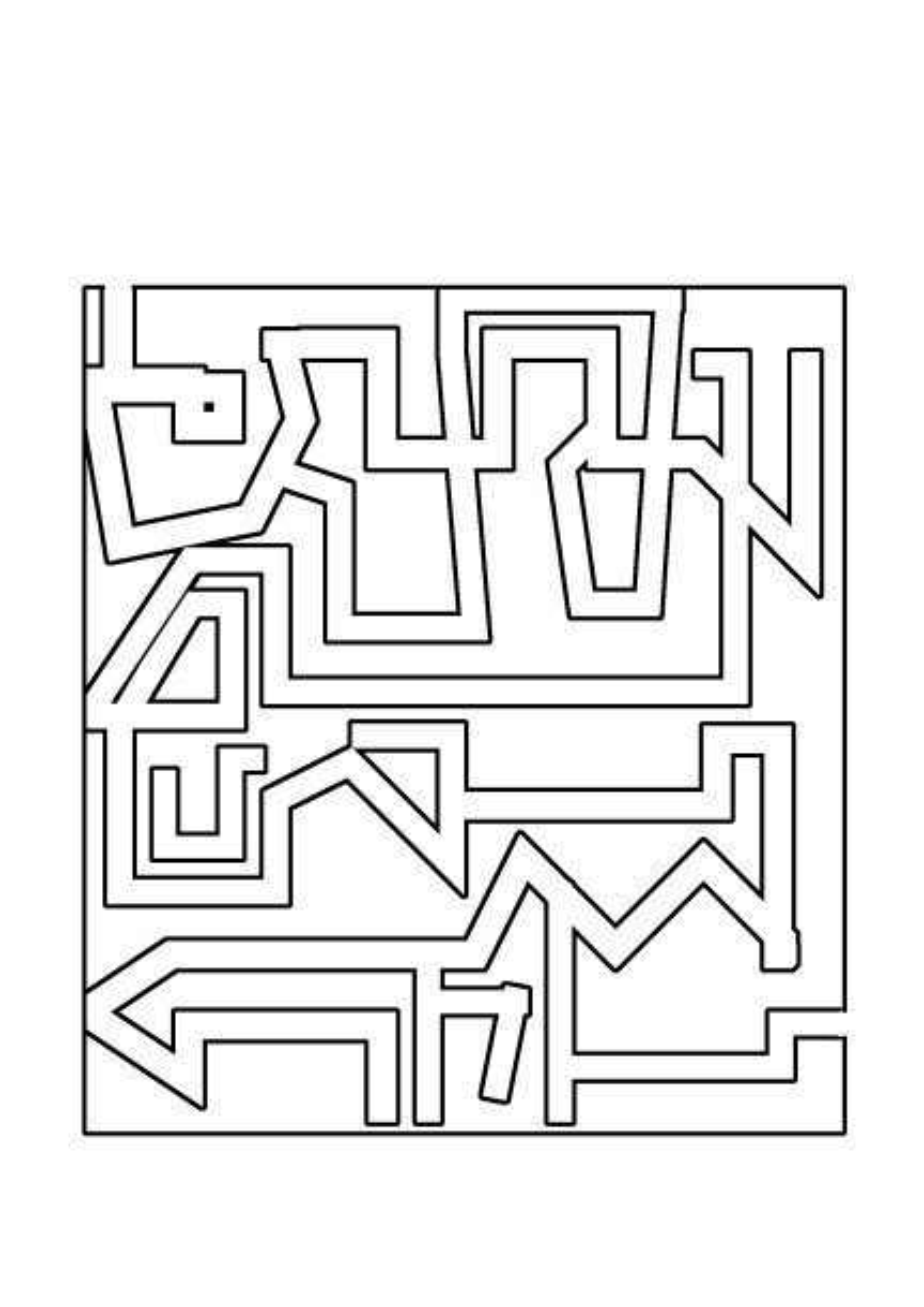 geometrical maze puzzle
