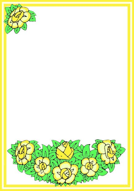 Easter flower frame