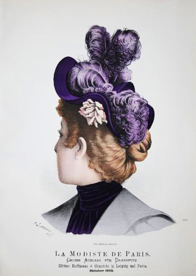 fashion sketches of Victorian hats