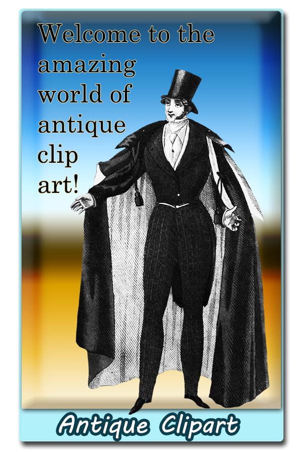 antique clip art welcome