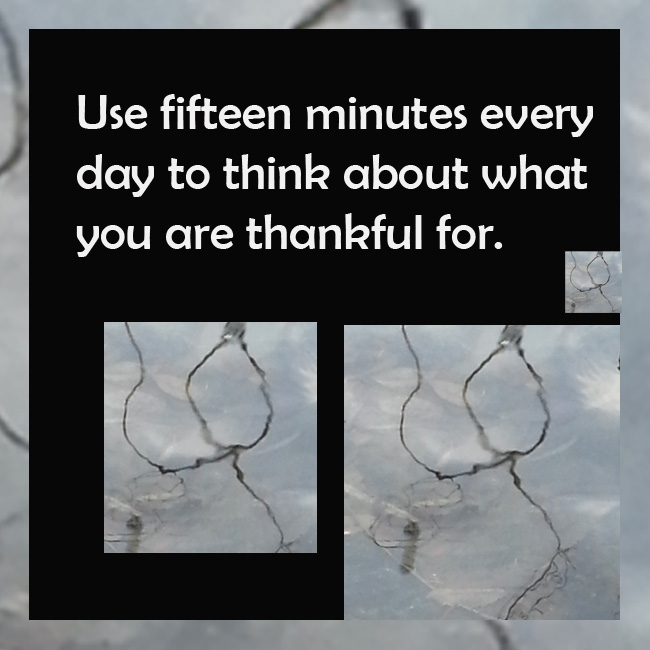 Thankfulness in your life