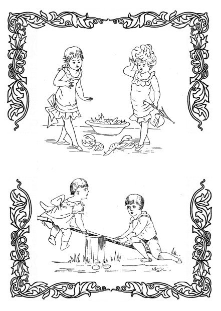 free coloring pictures with Victorian kids