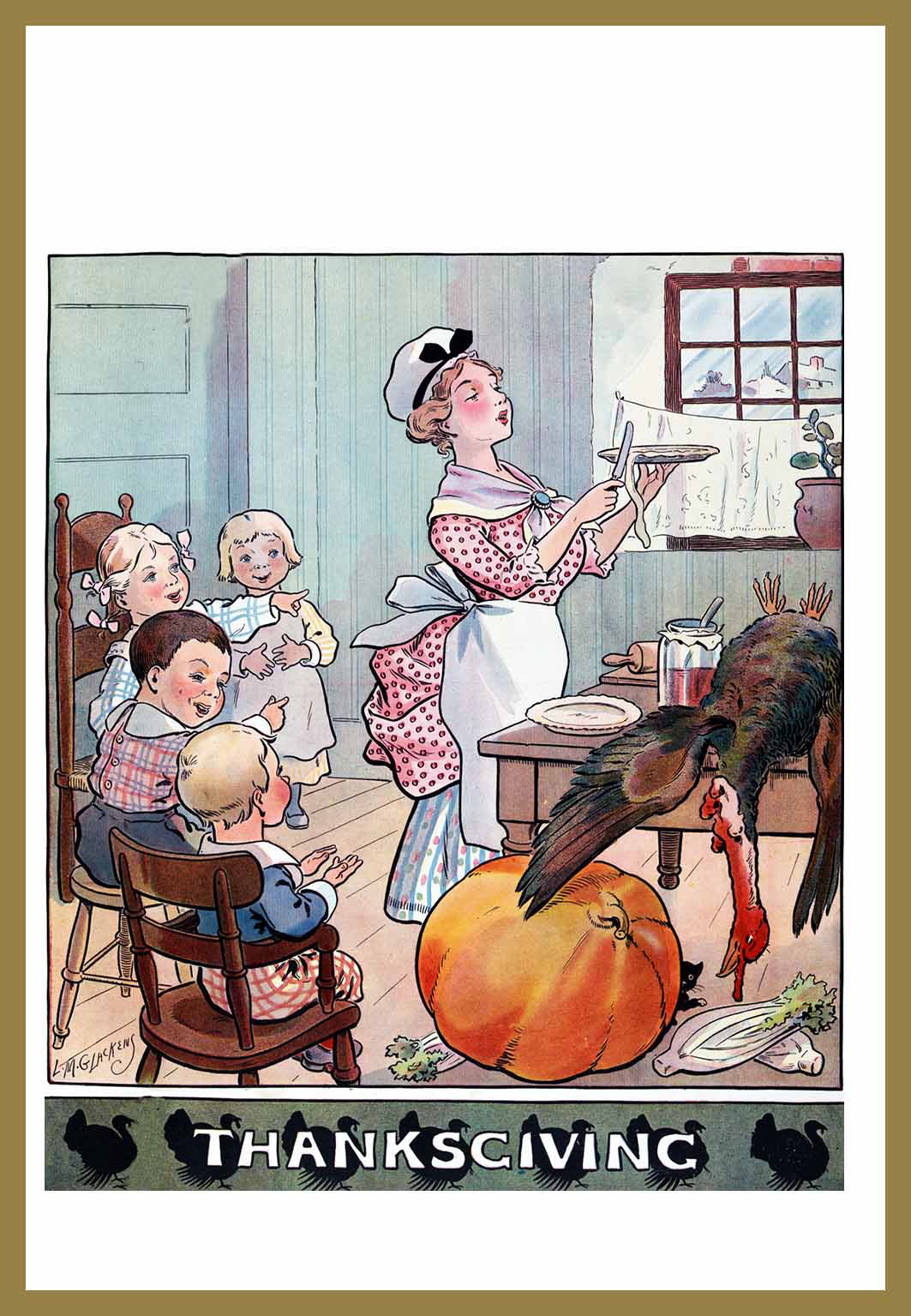funny Thanksgiving vintage card
