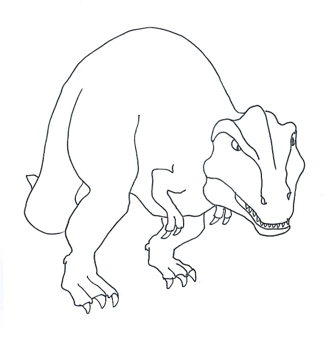 Tyrannosaurus rex printable coloring page