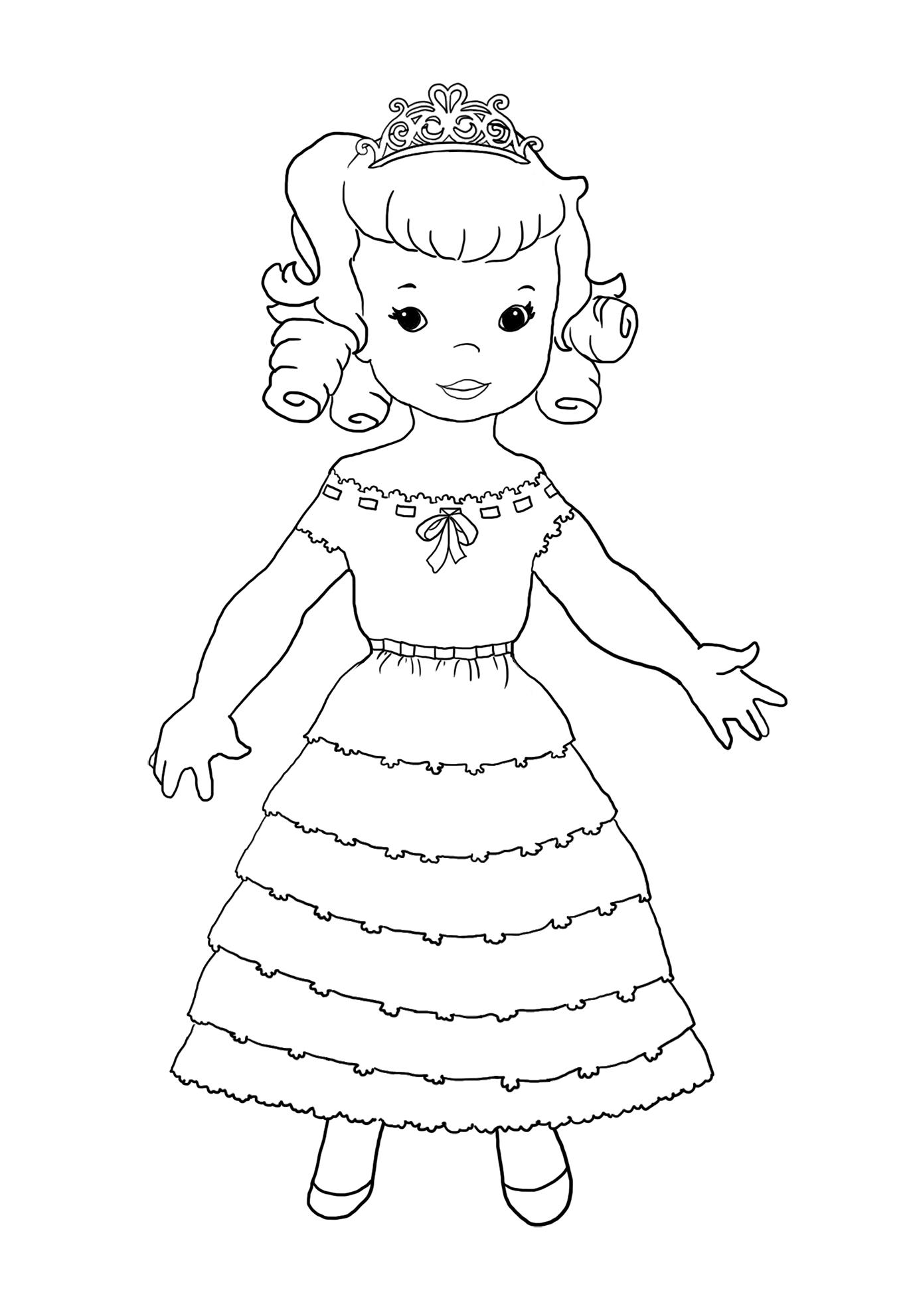 sweet princess coloring page
