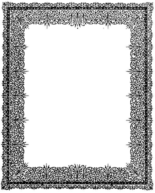 flower frame ornament