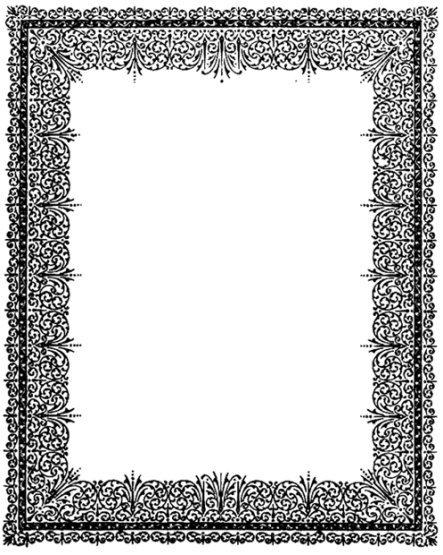 flower frame ornament