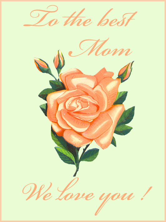 printable mothers day card with pink rose