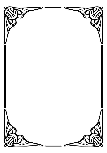 black corners frame