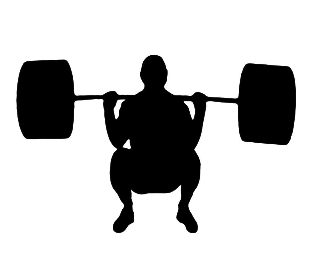 Squat Silhouette Different kinds of sports clipart