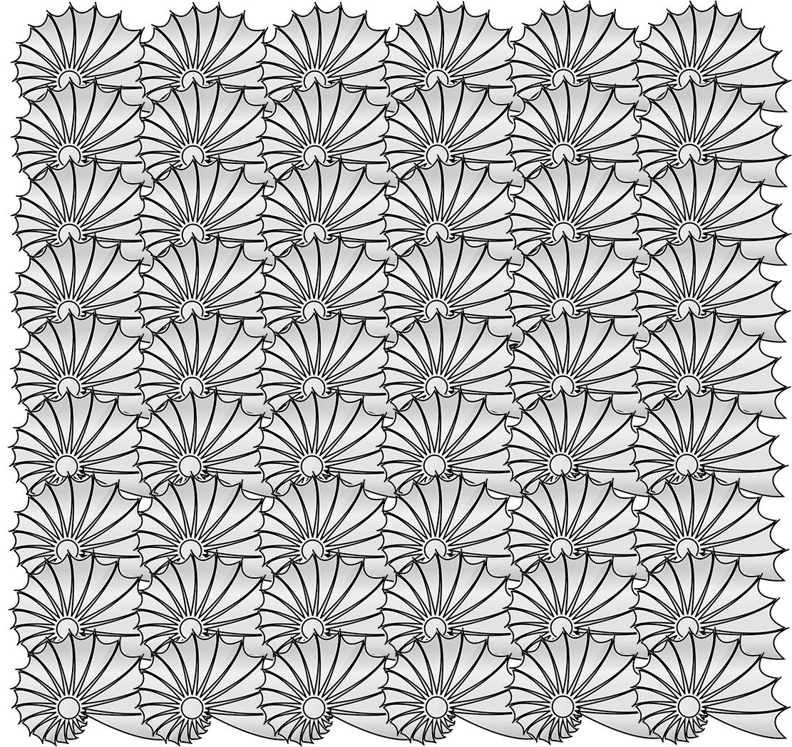 Art Deco pattern sea shells