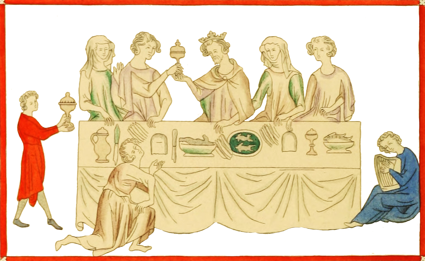 Medieval clipart of Royal repast