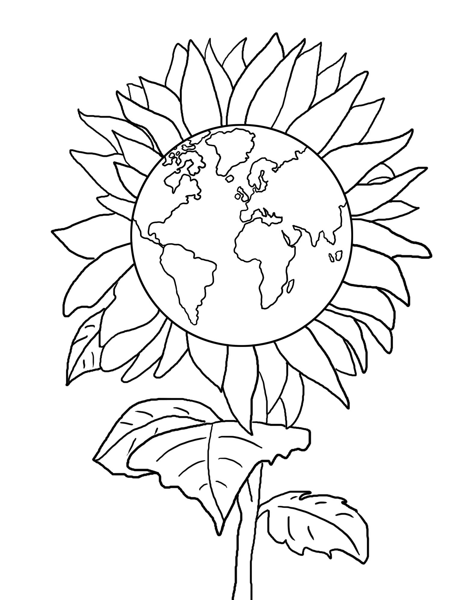 sun flower earth day sheet
