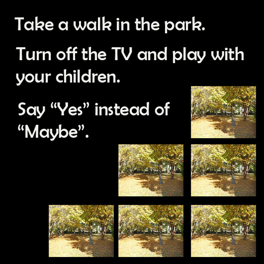 take a walk in the park