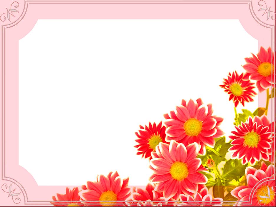friend Valentine template flowers
